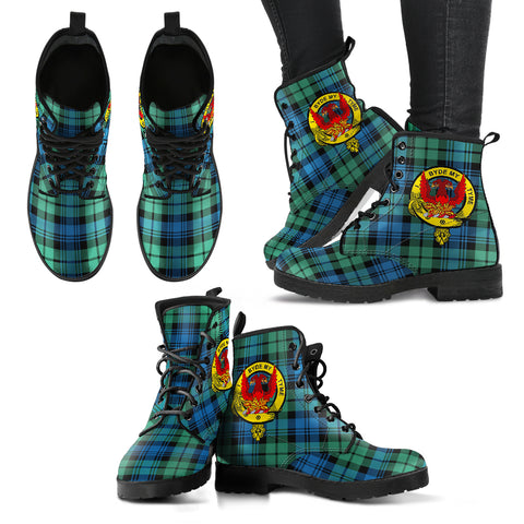 Campbell Ancient 01 Tartan Clan Badge Leather Boots A9