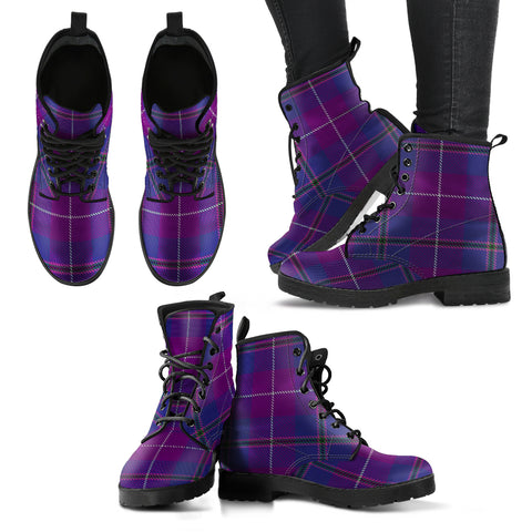 Pride of Glencoe Tartan Leather Boots A9