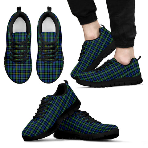 Campbell Argyll Ancient, Men's Sneakers, Tartan Sneakers, Clan Badge Tartan Sneakers, Shoes, Footwears, Scotland Shoes, Scottish Shoes, Clans Shoes