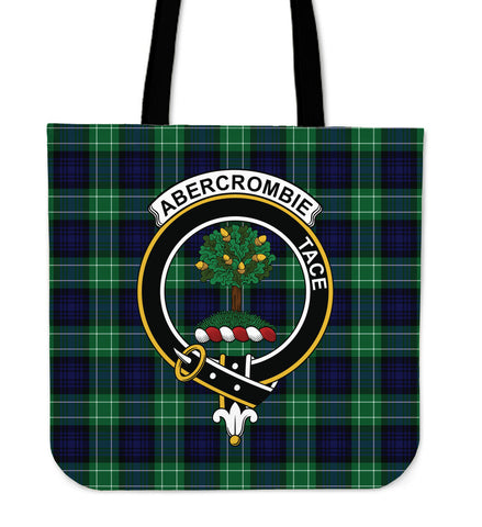 Tartan Tote Bag - Abercrombie Clan Badge | Special Custom Design