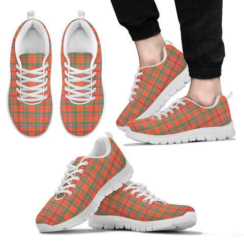 Munro Ancient, Men's Sneakers, Tartan Sneakers, Clan Badge Tartan Sneakers, Shoes, Footwears, Scotland Shoes, Scottish Shoes, Clans Shoes