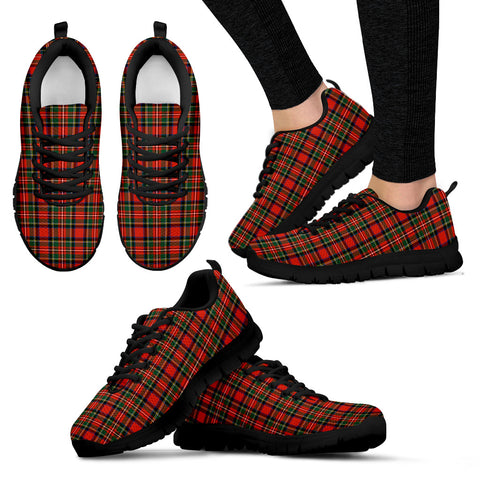 Stewart Royal Modern, Women's Sneakers, Tartan Sneakers, Clan Badge Tartan Sneakers, Shoes, Footwears, Scotland Shoes, Scottish Shoes, Clans Shoes