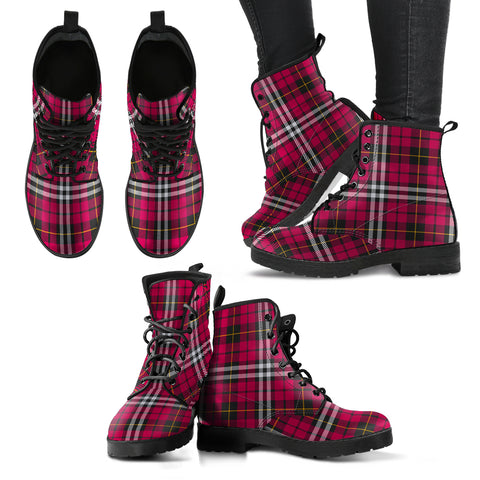Little Tartan Leather Boots A9