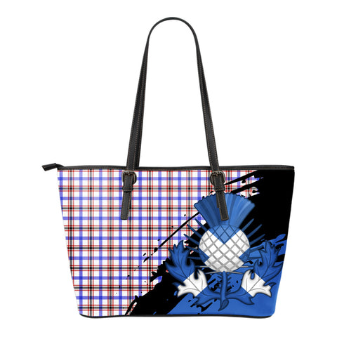 Boswell Modern Leather Tote Bag Small | Tartan Bags