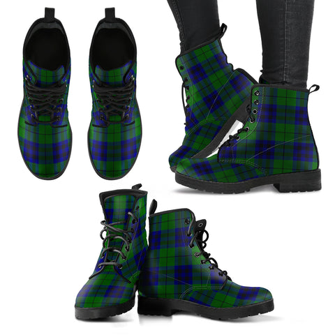 Keith Modern Tartan Leather Boots