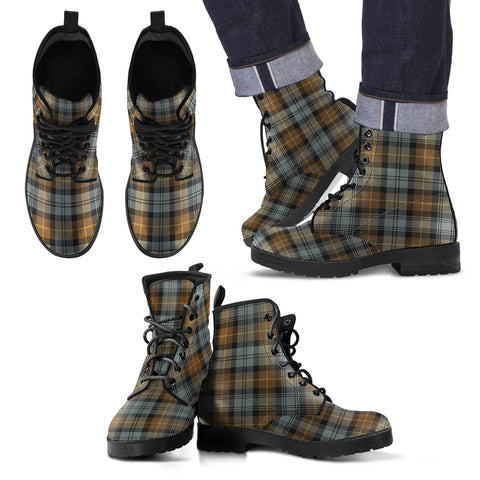 Gordon Weathered Tartan Leather Boots Footwear Shoes