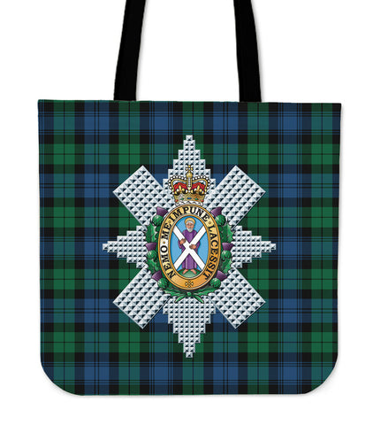 Tartan Tote Bag - Blackwatch Ancient Clan Badge | Special Custom Design