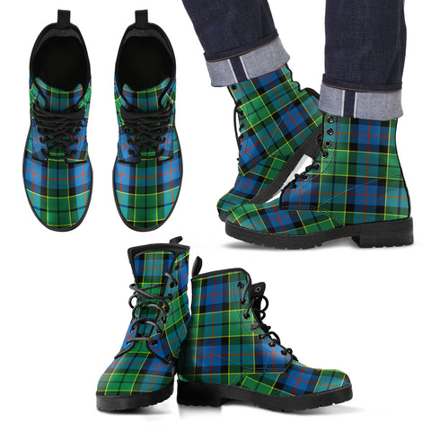 Forsyth Ancient Tartan Leather Boots Footwear Shoes
