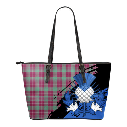 Crawford Ancient Leather Tote Bag Small | Tartan Bags