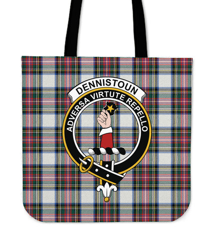 Tartan Tote Bag -  Dennistoun Clan Badge | Special Custom Design