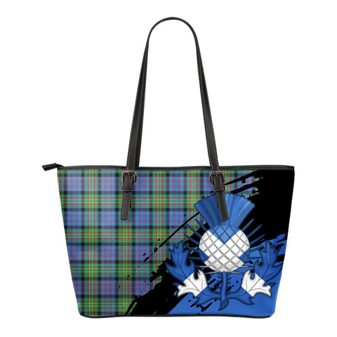 Bowie Ancient Leather Tote Bag Small | Tartan Bags