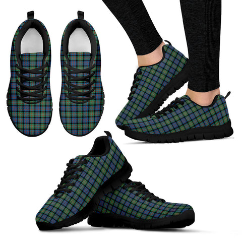 Image of MacDonnell of Glengarry Ancient, Women's Sneakers, Tartan Sneakers, Clan Badge Tartan Sneakers, Shoes, Footwears, Scotland Shoes, Scottish Shoes, Clans Shoes