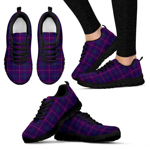 Pride of Glencoe, Women's Sneakers, Tartan Sneakers, Clan Badge Tartan Sneakers, Shoes, Footwears, Scotland Shoes, Scottish Shoes, Clans Shoes