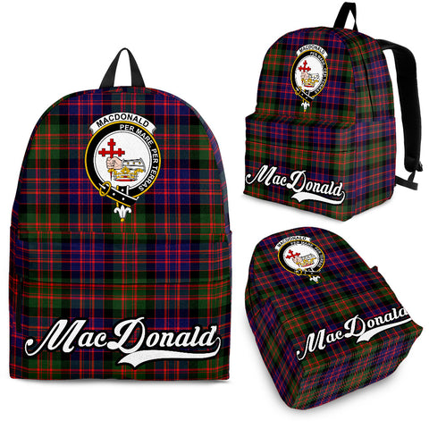 MacDonald (Clan Donald) Tartan Clan Backpack | Scottish Bag | Adults Backpacks & Bags
