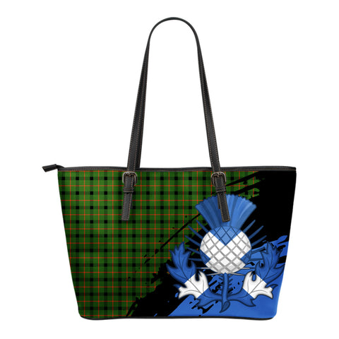 Kincaid Modern Leather Tote Bag Small | Tartan Bags