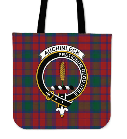 Tartan Tote Bag - Auchinleck Clan Badge | Special Custom Design