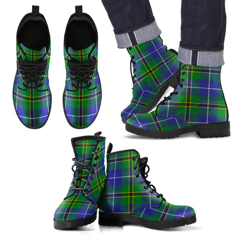 Turnbull Hunting Tartan Leather Boots Footwear Shoes