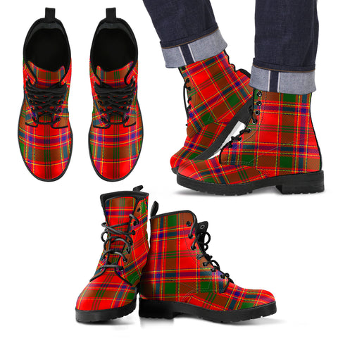 Munro Modern Tartan Leather Boots Footwear Shoes
