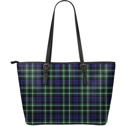 Graham of Montrose Modern Tartan Leather Tote Bag (Large) | Over 500 Tartans | Special Custom Design