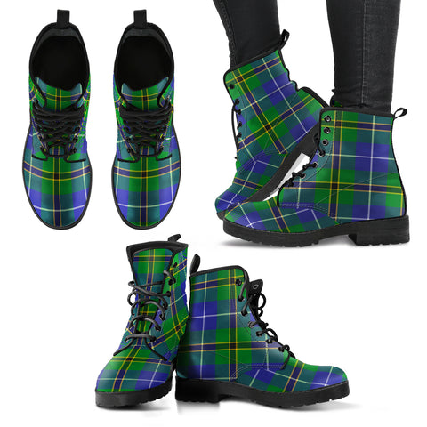 Turnbull Hunting Tartan Leather Boots A9