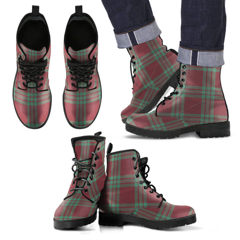 MacGregor Hunting Ancient Tartan Leather Boots Footwear Shoes