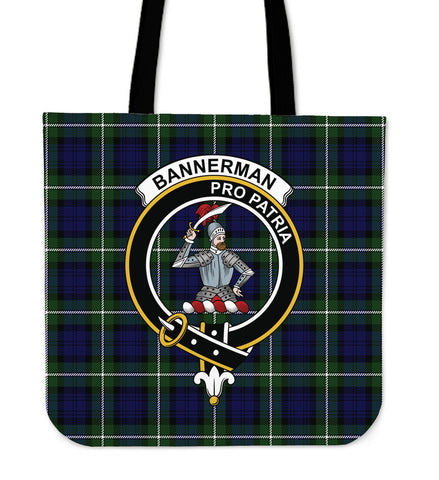 Tartan Tote Bag - Bannerman Clan Badge | Special Custom Design