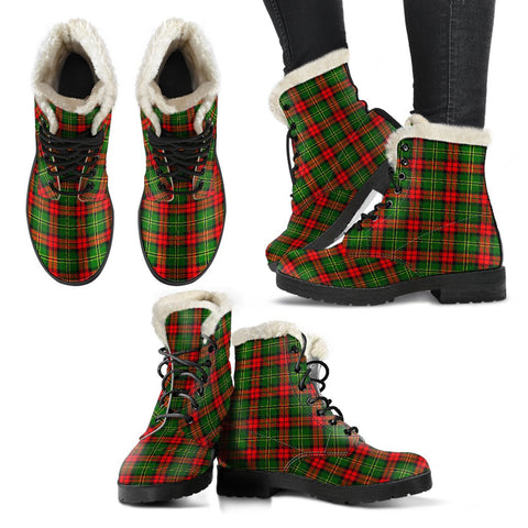 Blackstock Tartan Faux Fur Leather Boots