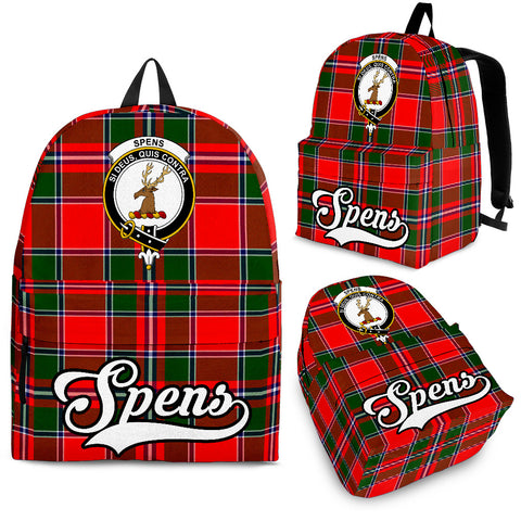 Image of Spens (or Spence) Tartan Clan Backpack | Scottish Bag | Adults Backpacks & Bags