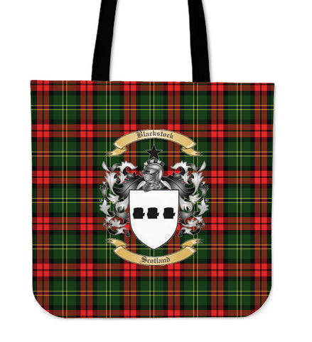 Tartan Tote Bag - Blackstock Clan Badge | Special Custom Design