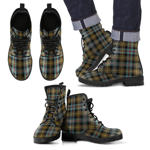 Farquharson Weathered Tartan Leather Boots Footwear Shoes