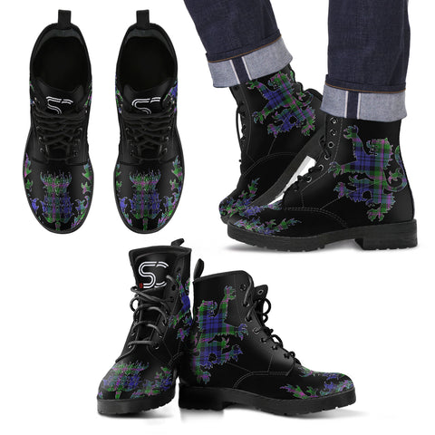 Baird Modern Tartan Leather Boots Lion And Thistle TH8