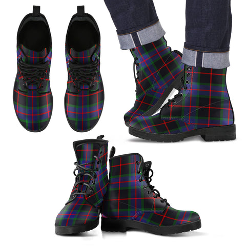 Nairn Tartan Leather Boots Footwear Shoes