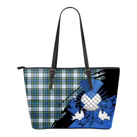 Campbell Dress Ancient Leather Tote Bag Small | Tartan Bags