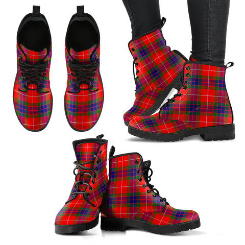 Image of Fraser Modern Tartan Leather Boots A9
