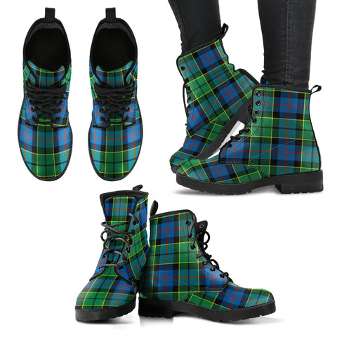 Forsyth Ancient Tartan Leather Boots