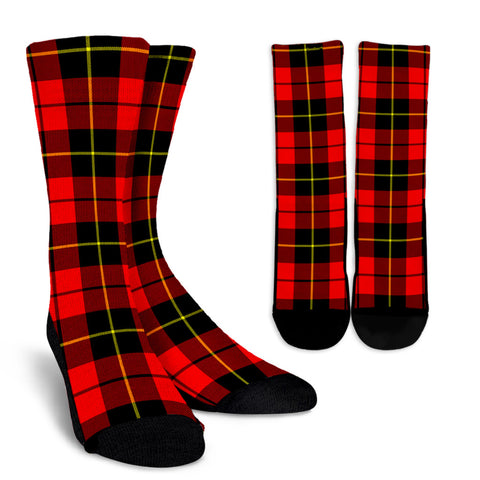 Wallace Hunting - Red clans, Tartan Crew Socks, Tartan Socks, Scotland socks, scottish socks, christmas socks, xmas socks, gift socks, clan socks