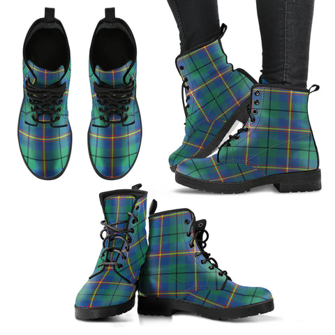 Image of Carmichael Ancient  Tartan Leather Boots A9