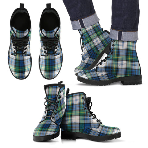 Gordon Dress Ancient Tartan Leather Boots Footwear Shoes