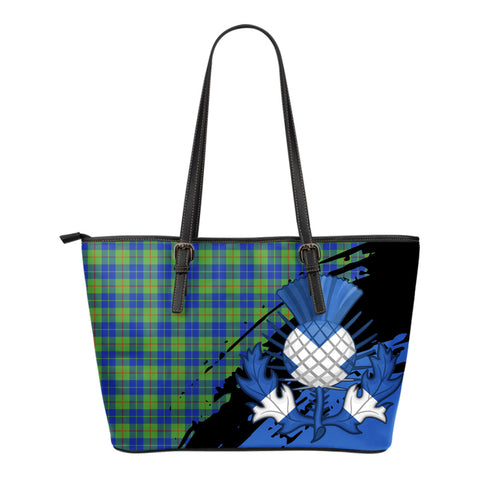 Barclay Hunting Ancient Leather Tote Bag Small | Tartan Bags