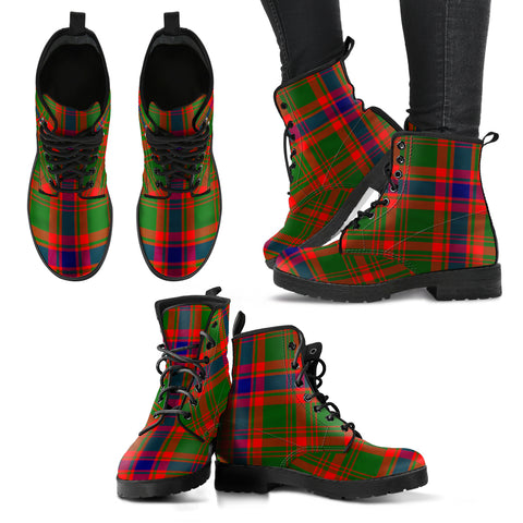 Nithsdale District Tartan Leather Boots A9