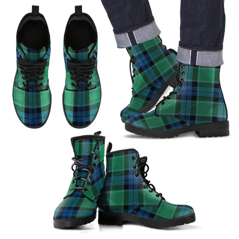Graham of Menteith Ancient Tartan Leather Boots Footwear Shoes