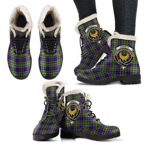 Image of Arnott  Tartan Faux Fur Leather Boots