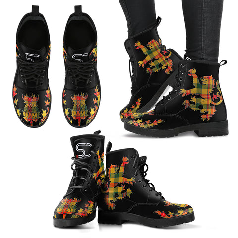 Baxter Tartan Leather Boots Lion And Thistle