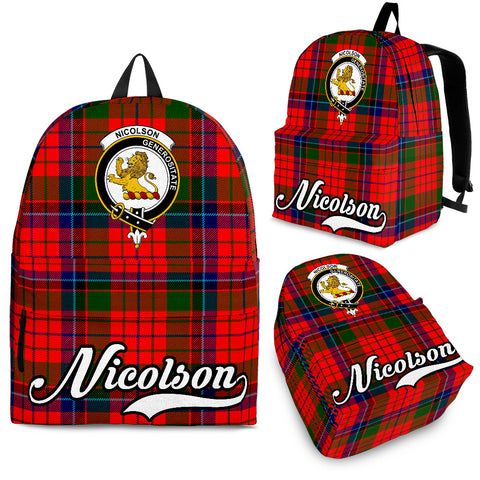 Nicolson Tartan Clan Backpack | Scottish Bag | Adults Backpacks & Bags