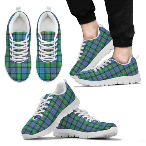 Bowie Ancient, Men's Sneakers, Tartan Sneakers, Clan Badge Tartan Sneakers, Shoes, Footwears, Scotland Shoes, Scottish Shoes, Clans Shoes