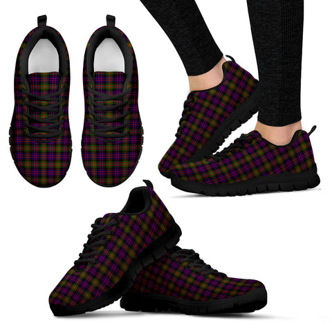 MacDonnell of Glengarry Modern, Women's Sneakers, Tartan Sneakers, Clan Badge Tartan Sneakers, Shoes, Footwears, Scotland Shoes, Scottish Shoes, Clans Shoes