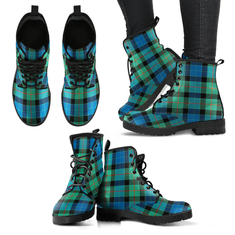 Image of Gunn Ancient Tartan Leather Boots A9