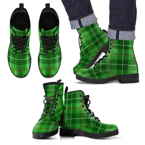 Galloway District Tartan Leather Boots Footwear Shoes