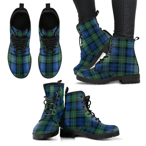 Forbes Ancient Tartan Leather Boots A9