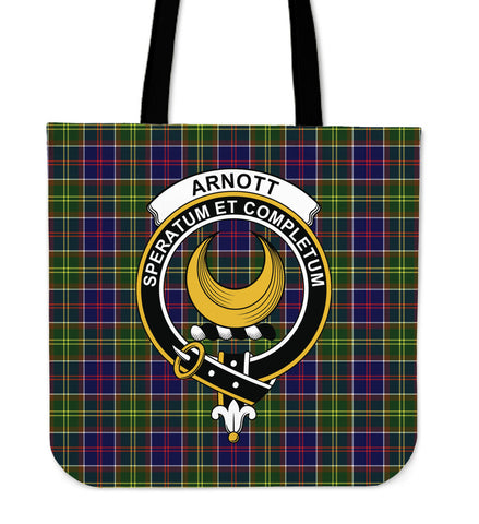 Tartan Tote Bag - Arnott Clan Badge | Special Custom Design